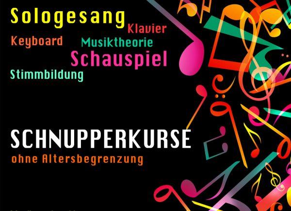 Einzelunterricht in Gesang, Schauspiel, Klavier. Schnupperkurse zu Schnupperpreisen